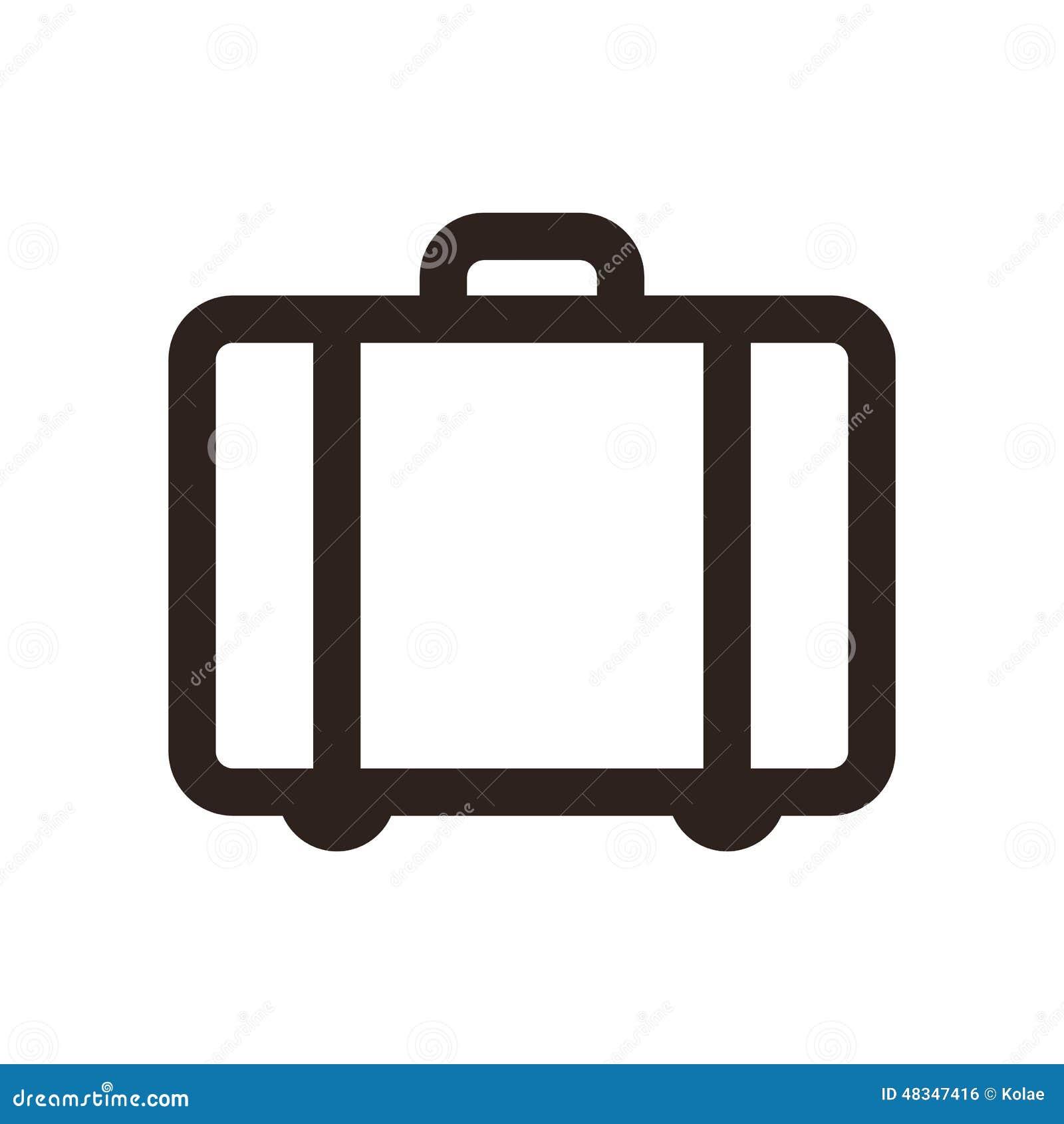 valise symbole de voyage illustration de vecteur image du a roport 48347416. Black Bedroom Furniture Sets. Home Design Ideas