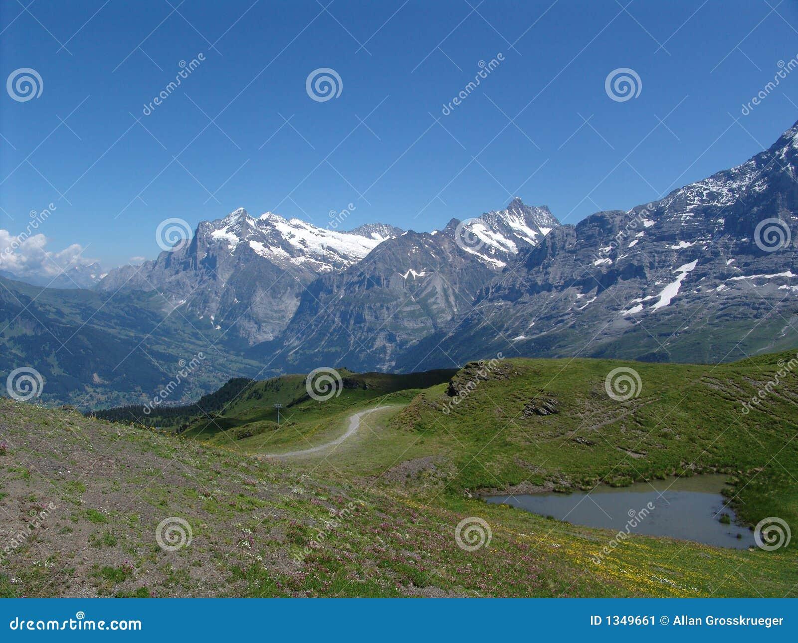 Vallée de Grindelwald de Kleine Scheidegg