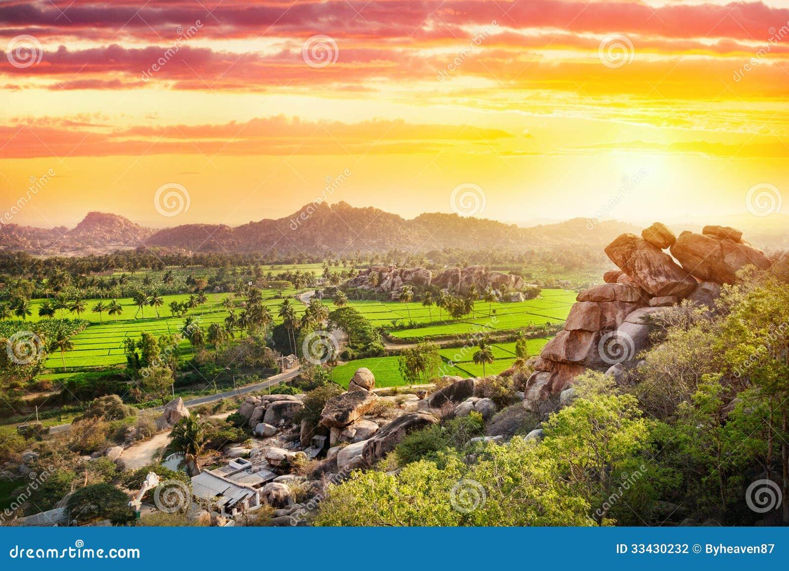 Vallée de Hampi dans l Inde