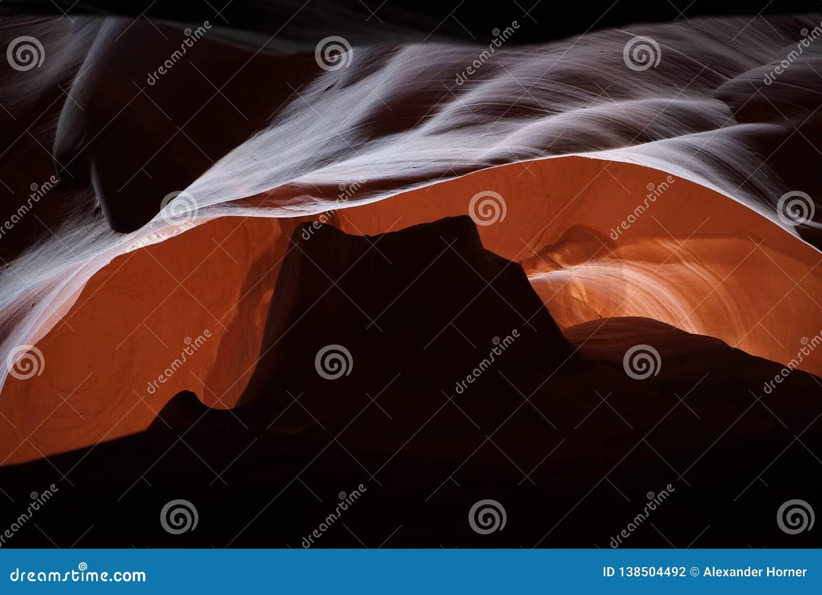 Vallée de monument de Canon Arizona Etats-Unis d antilope