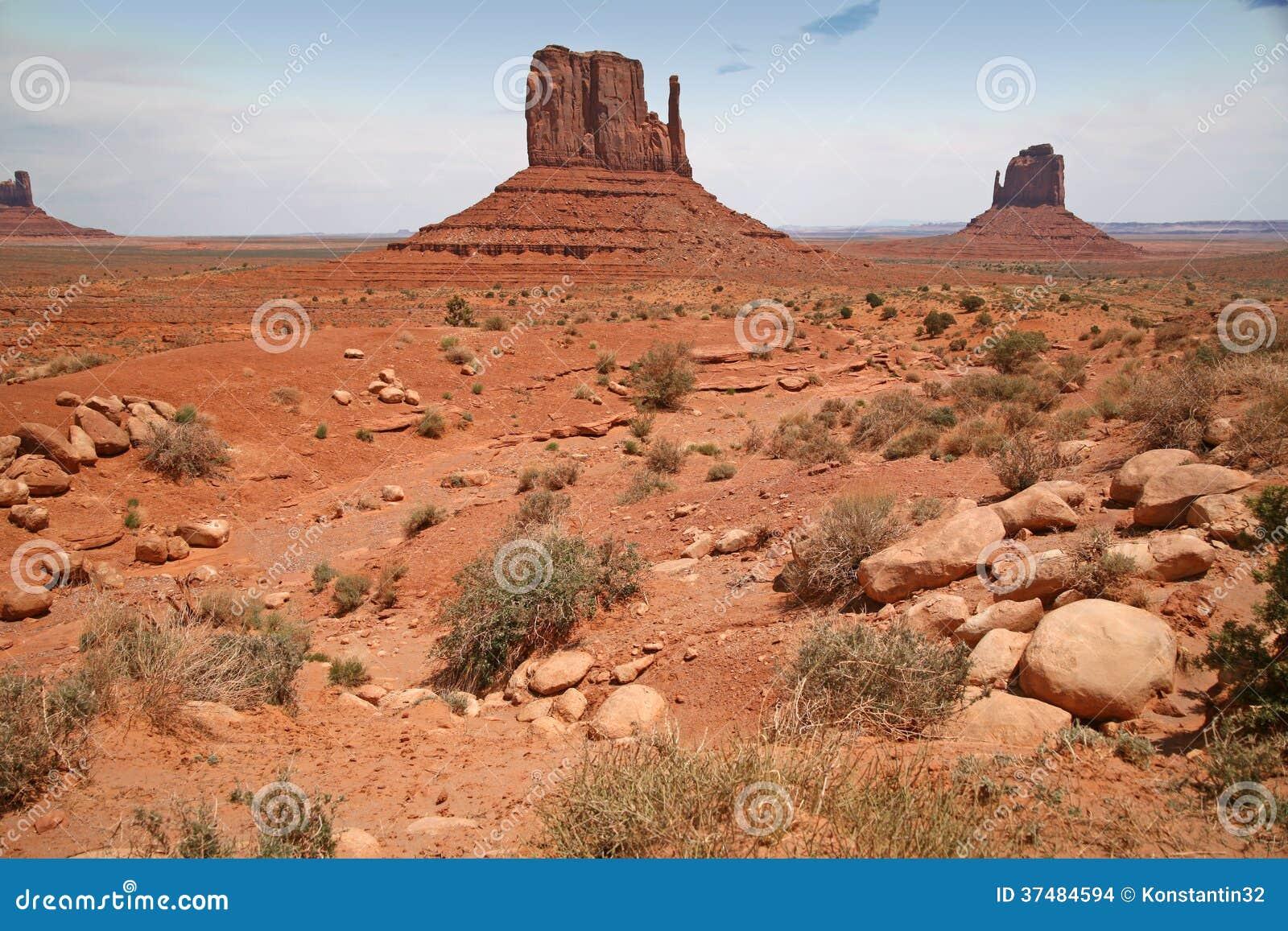 Vallée de monument, canyon de désert en Utah, Etats-Unis
