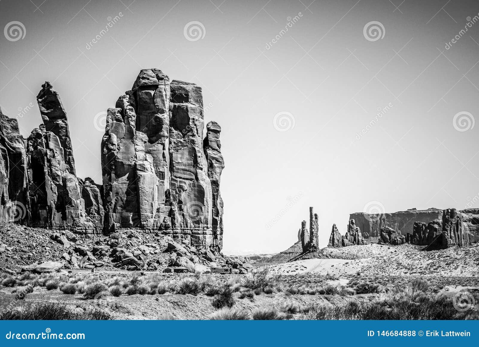 Vall?e de monument en Utah Oljato