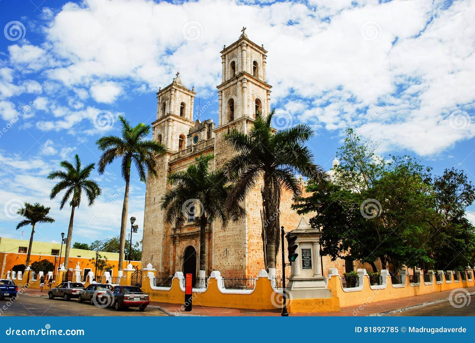 Valladolid, Mexico  Cathedral De San Servasio Stock Image