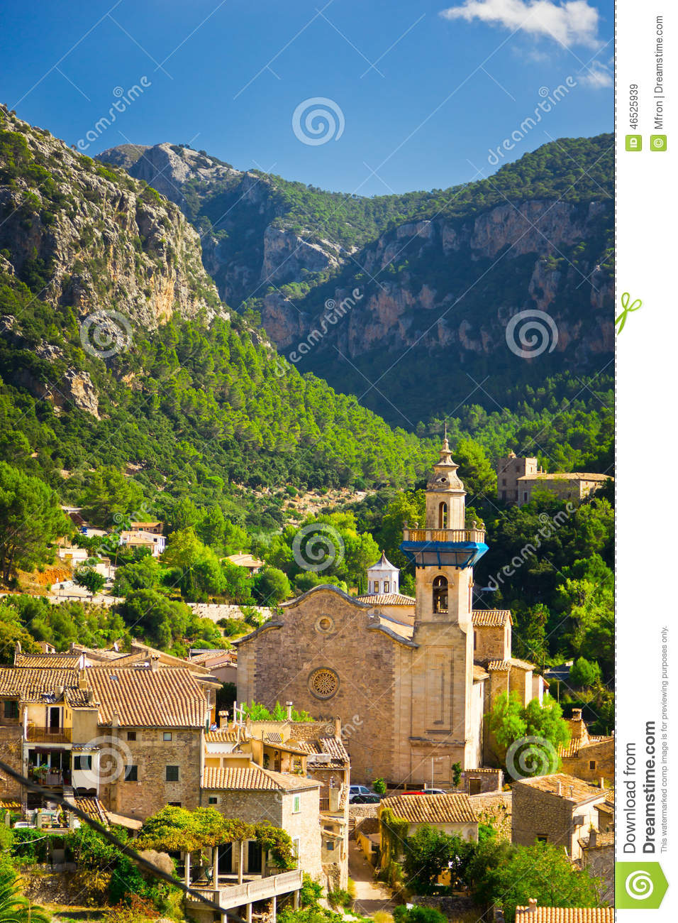 Valldemossa city mallorca spain stock photo image for Valldemossa mallorca