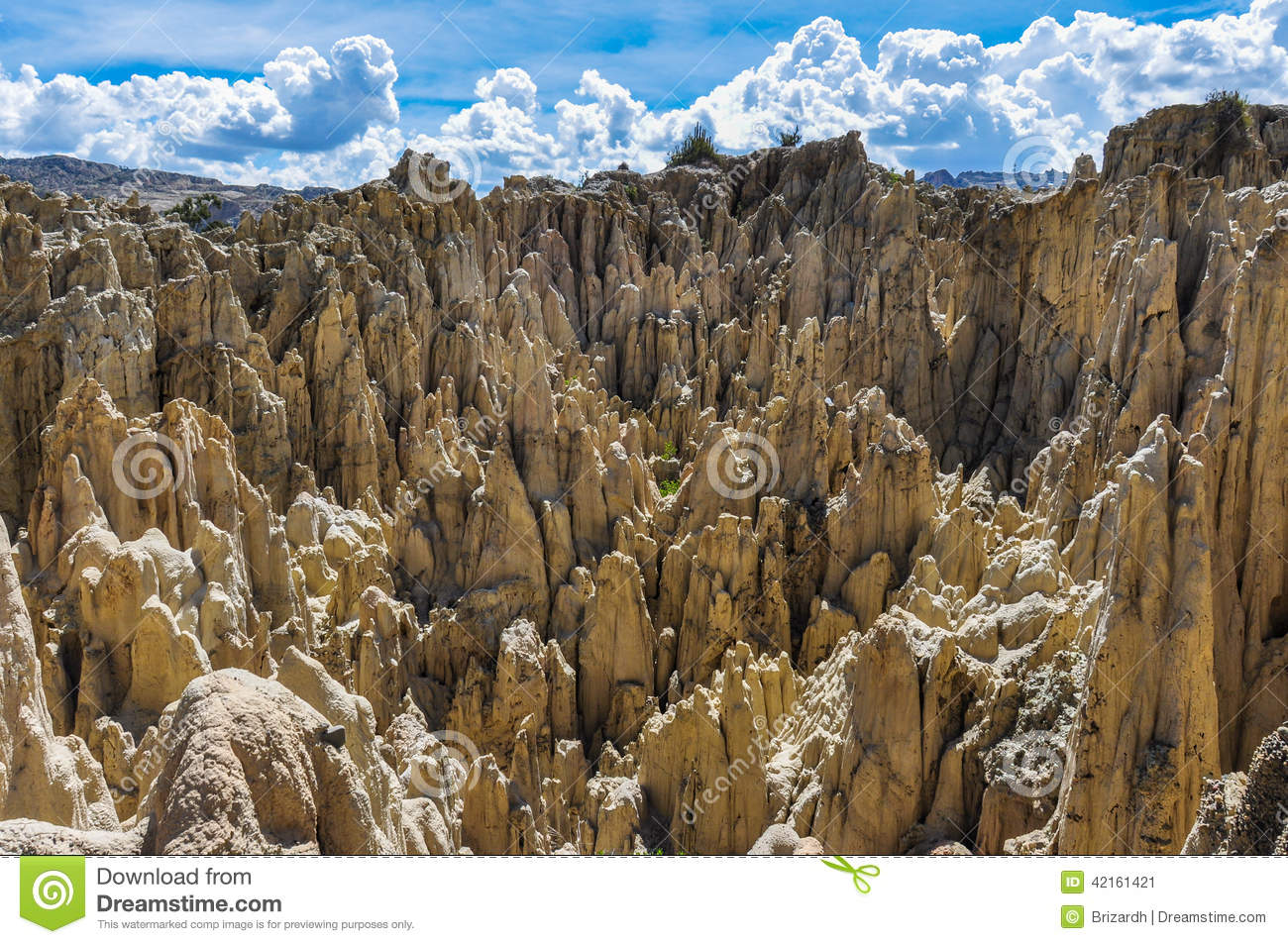Valle De La Luna Near La Paz Bolivia Stock Image Image Of Delicate Outdoor 42161421