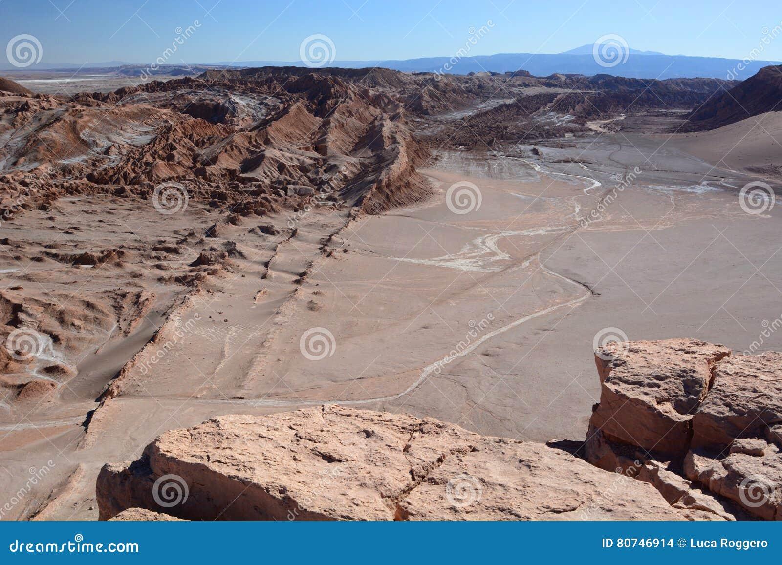 Valle-De-La Luna oder Mond-Tal San Pedro de Atacama chile