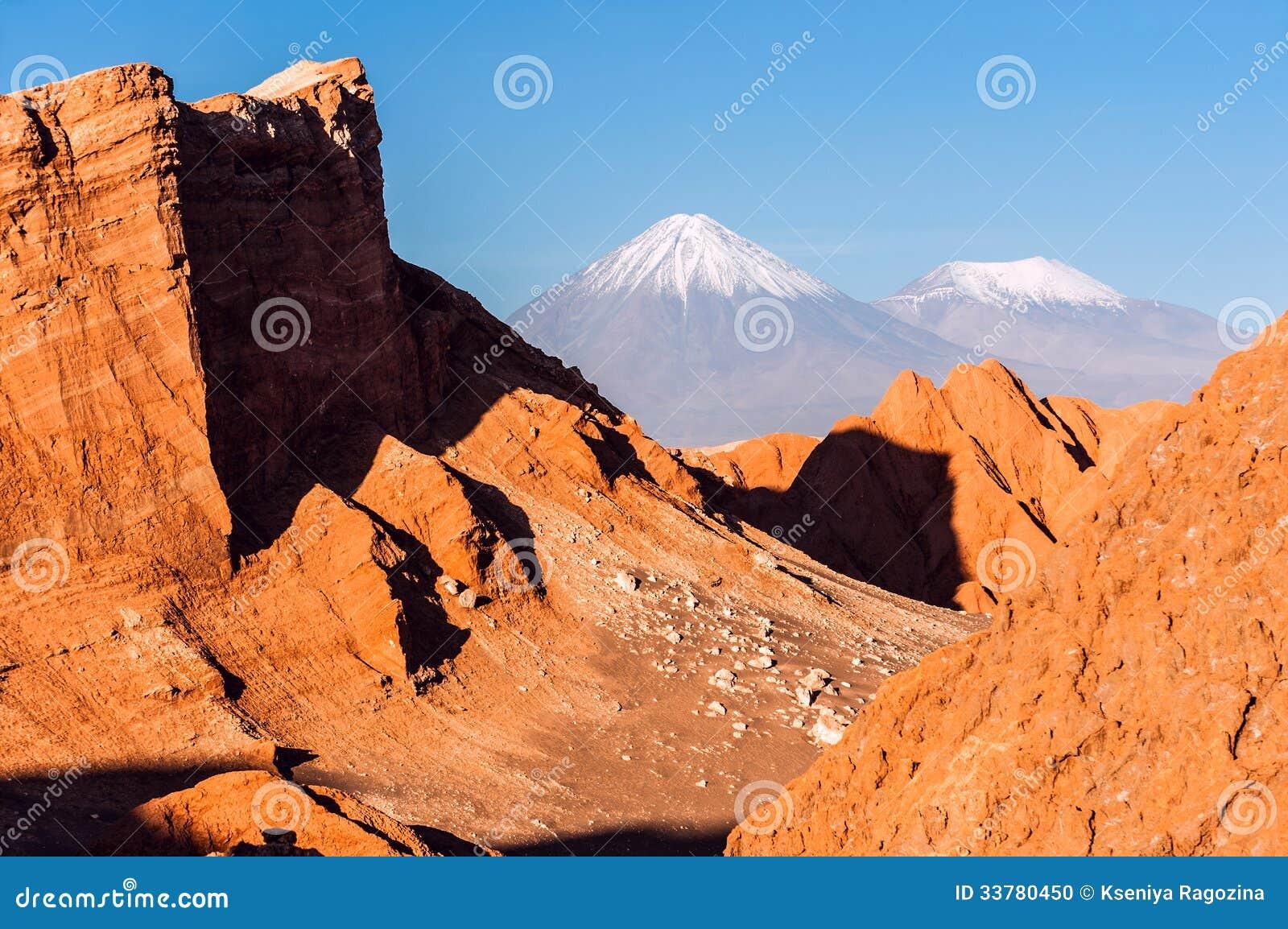Valle DE La Luna, Vulkanen Licancabur en Juriques, Atacama