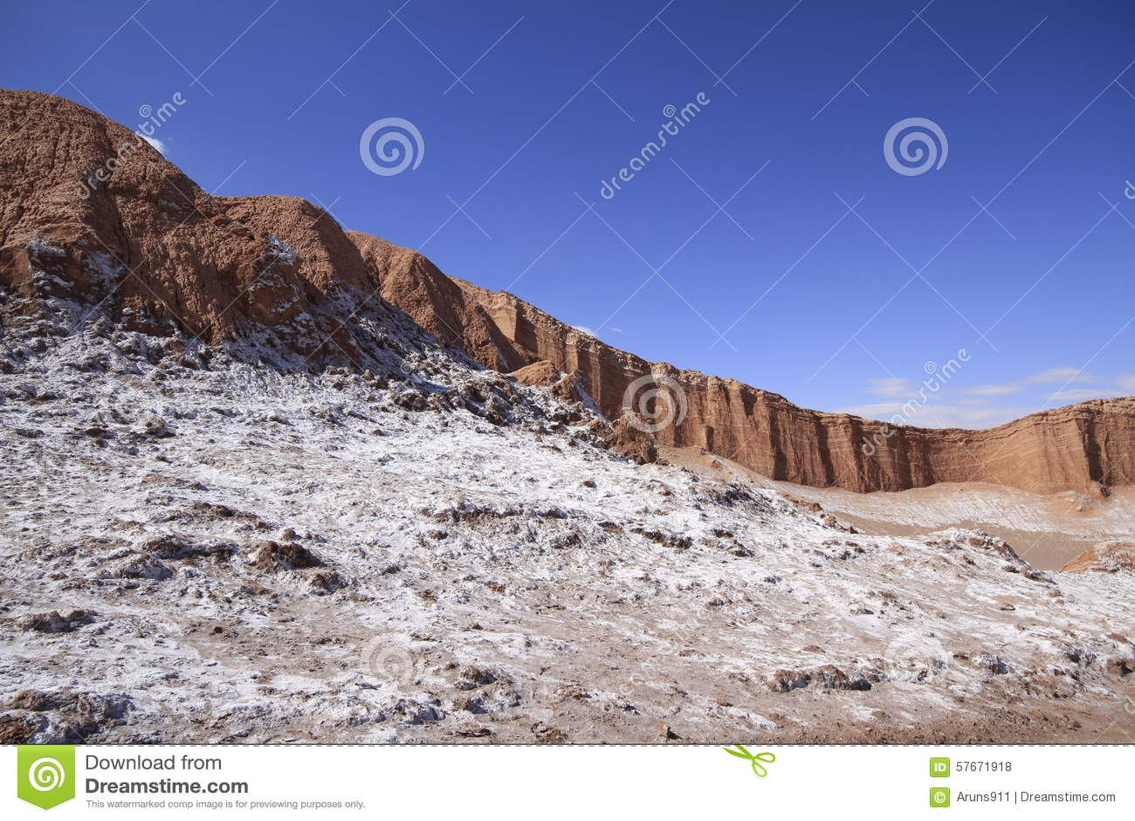 Valle del luna - dal av månen, i atacama, chile