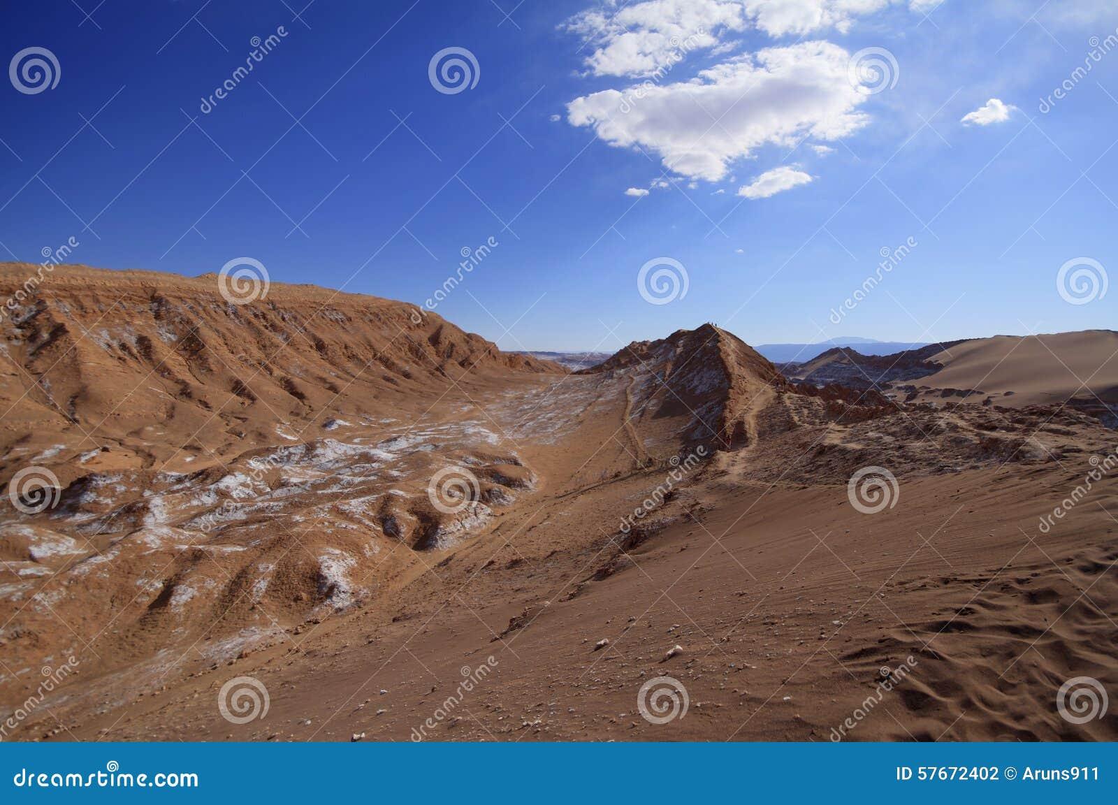 Valle del luna - vallei van de maan, in atacama, Chili