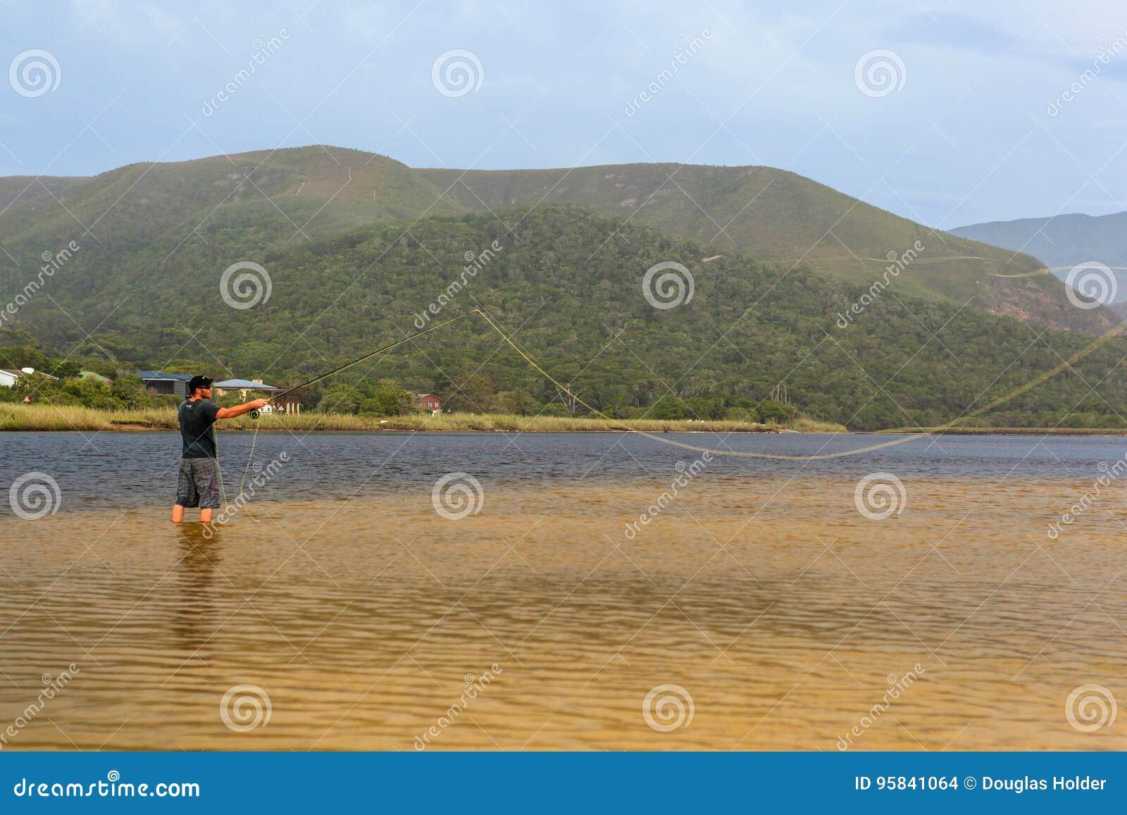 Valle delle nature della pesca con la mosca