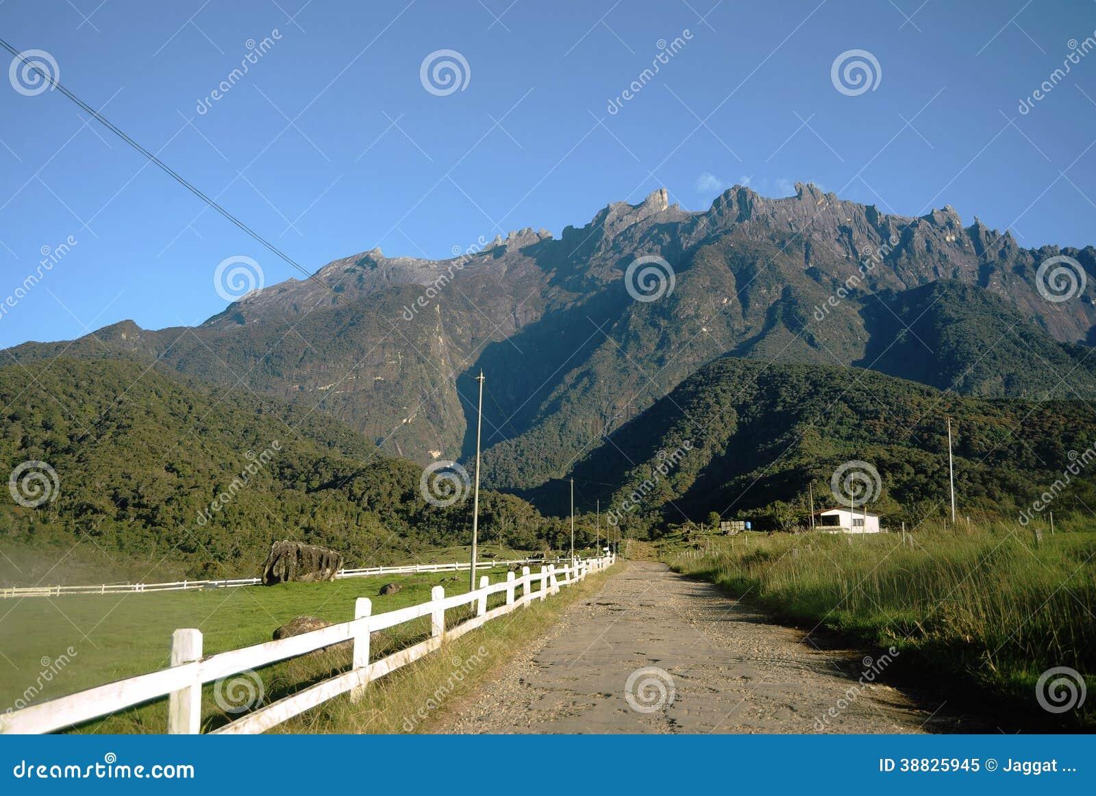 Valle di agricoltura vicino alla montagna di Kinabalu