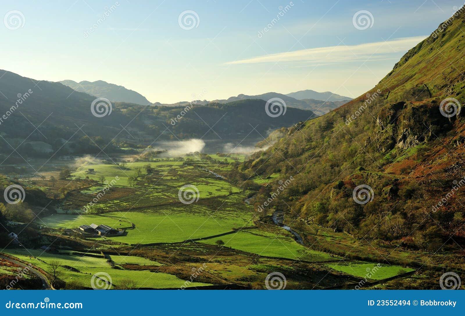Valle di Nant Gynant, Snowdonia, Galles del nord