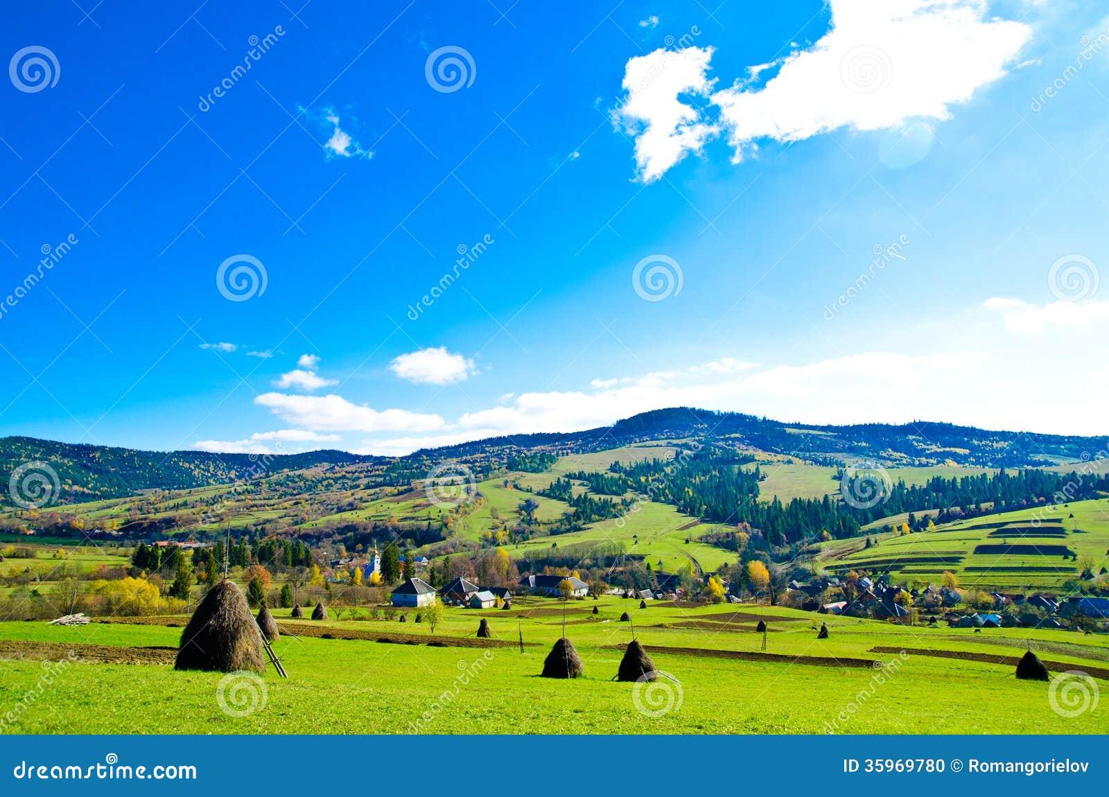 Valle en una montaña