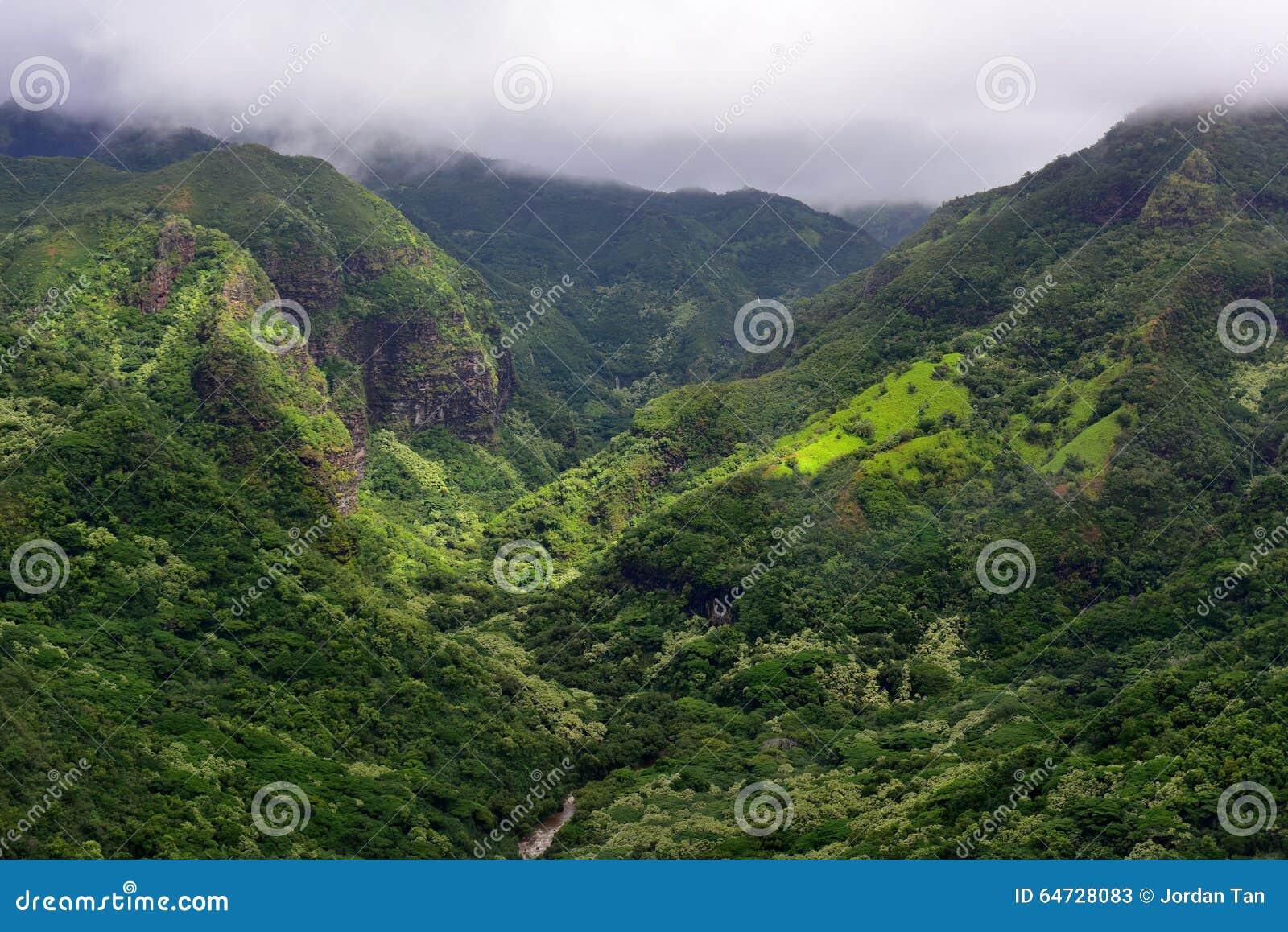 Valle magnifica di Hanapepe nell isola di Kauai