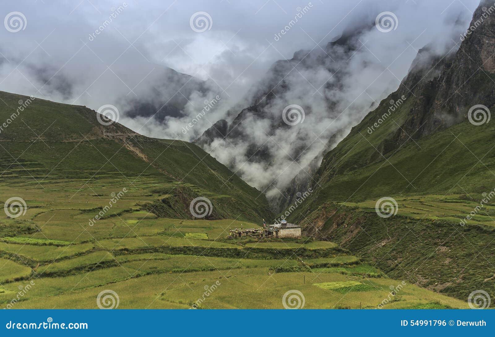 Valle nel Nepal