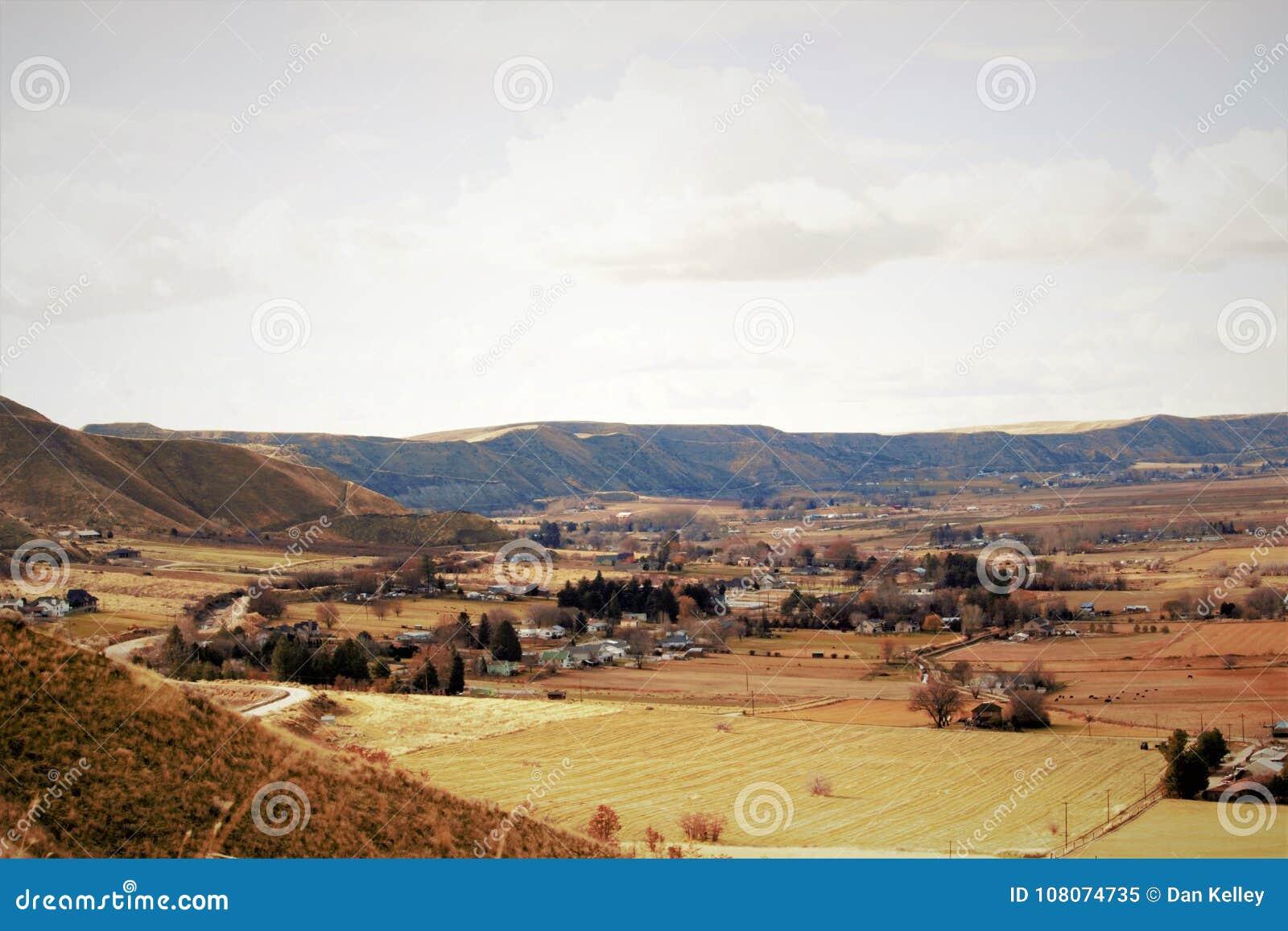 Valle scenica vicino a Emmett, Idaho