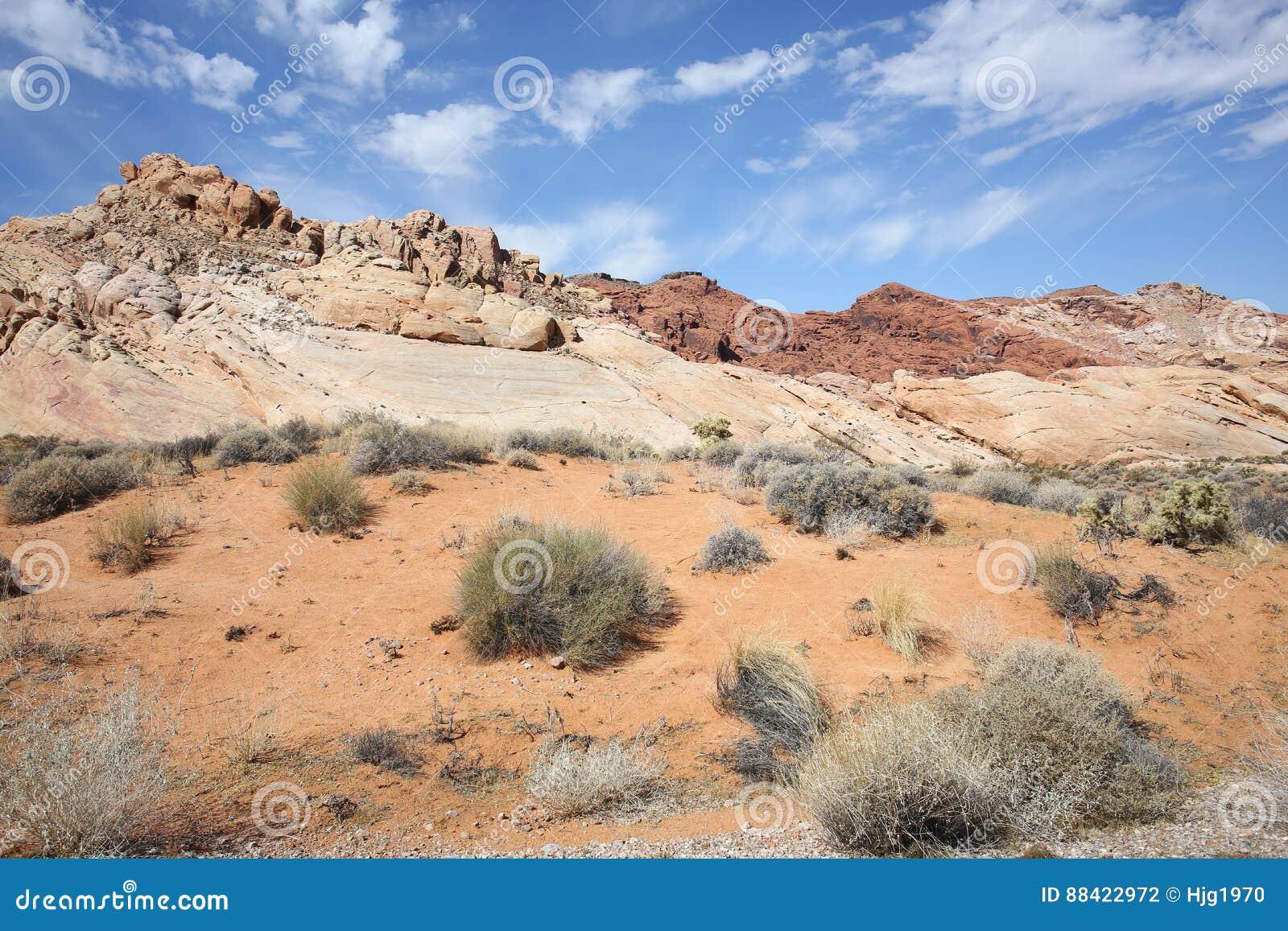 Vallei van het Park van de Brandstaat in Nevada, de V.S.
