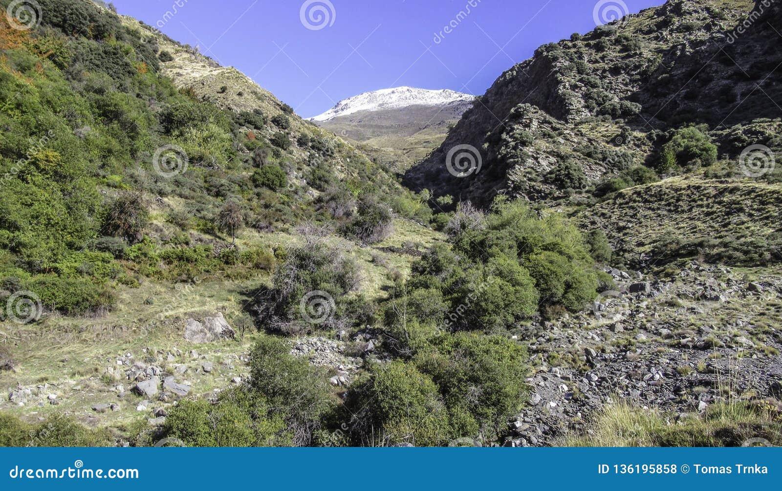 Vallei van Sierra Nevada, Andalusia, Spanje