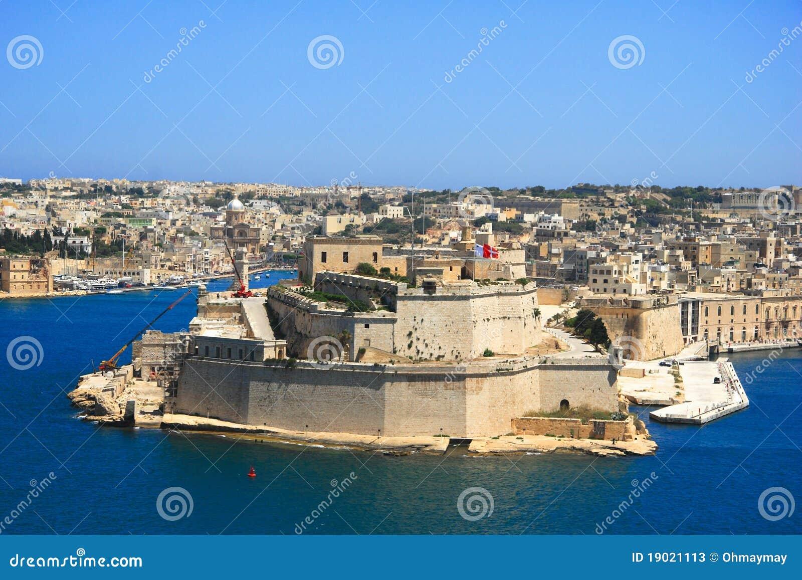 valletta old town coastline  malta stock image