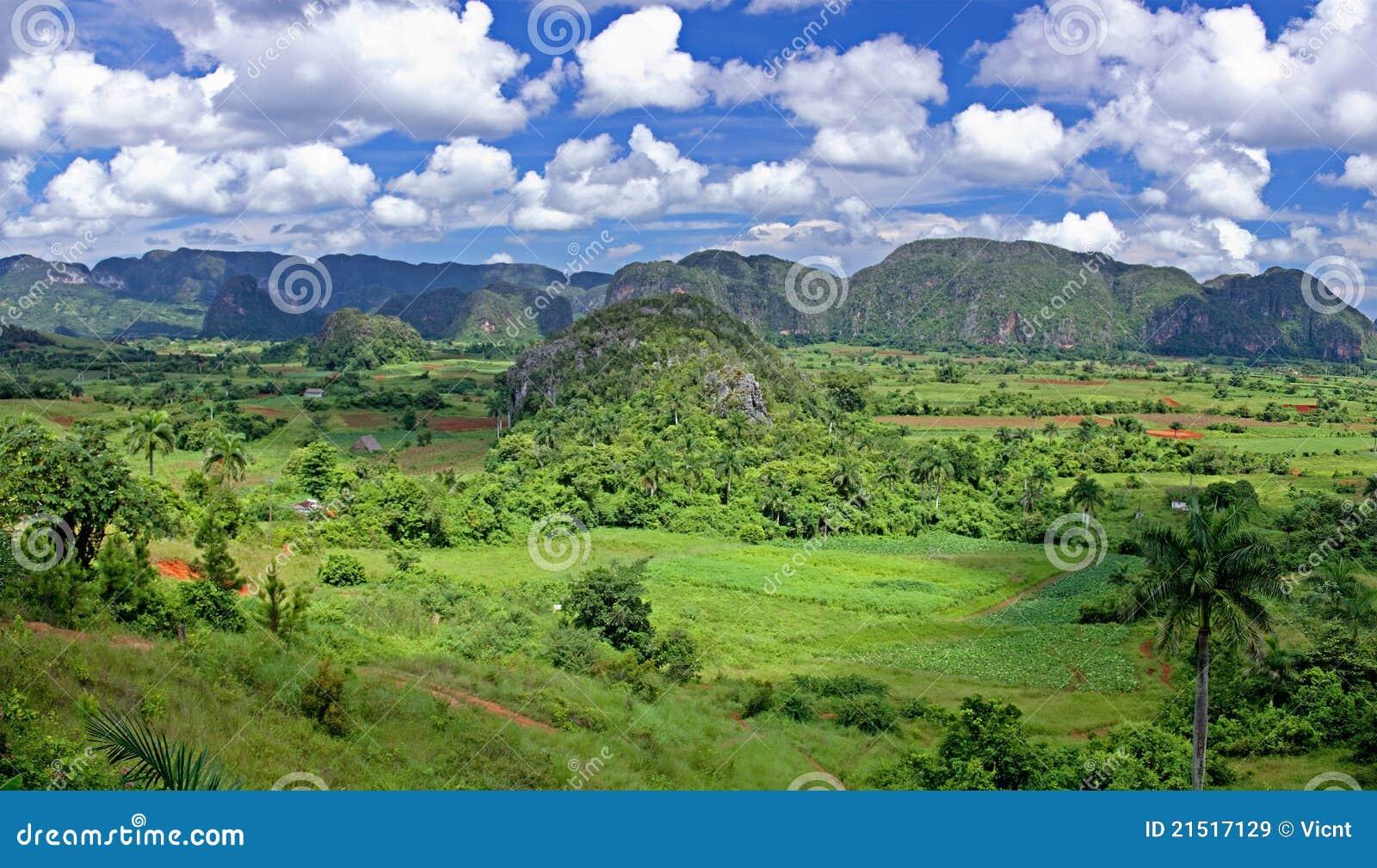 Valley in Cuba