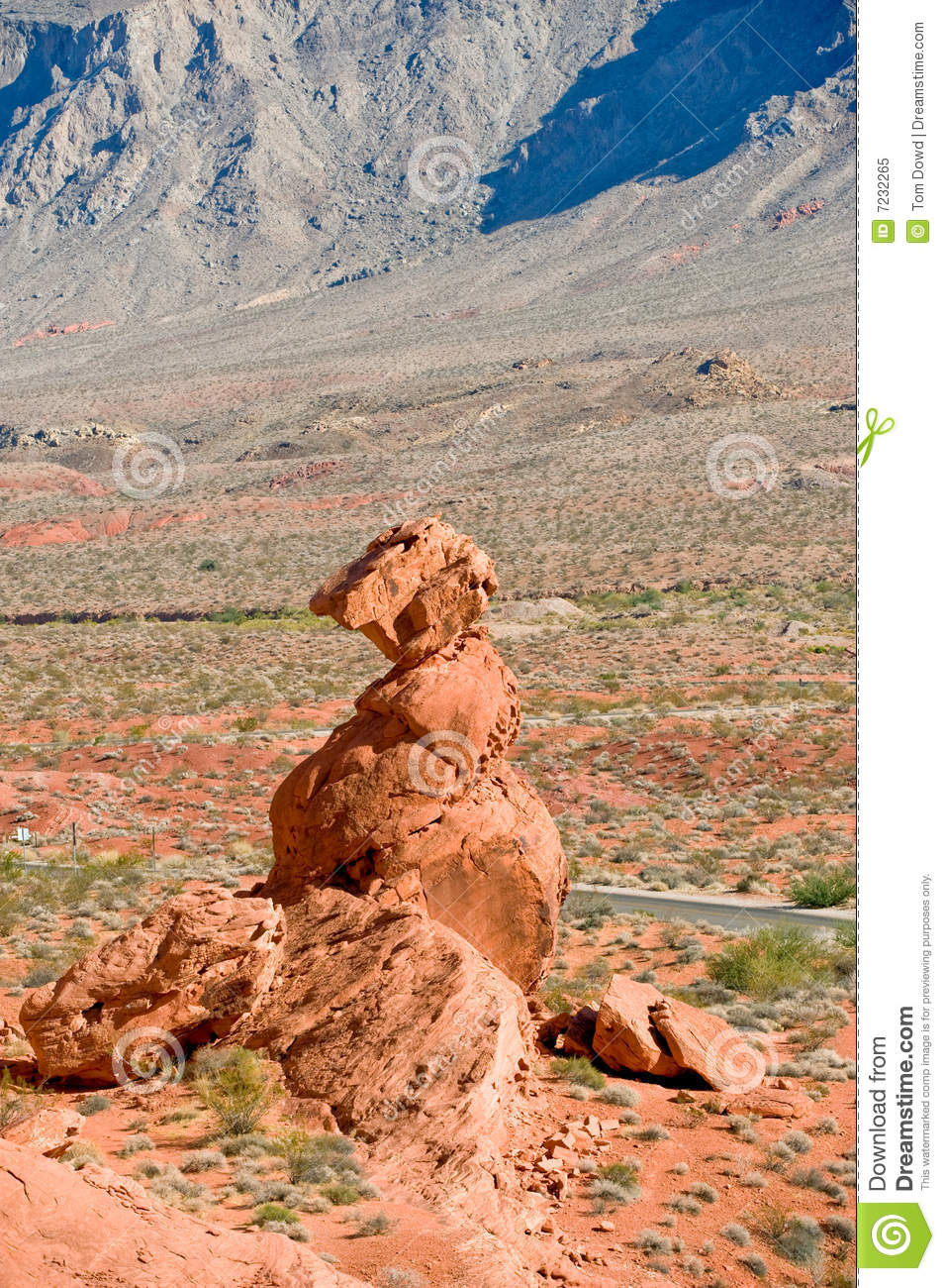 Valley Of Fire Rock Formation Royalty Free Stock Photo