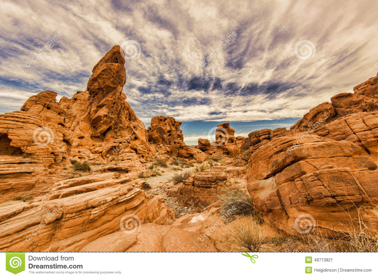 Valley of fire rock formation stock image image 49713821 for Firerock fireplace cost
