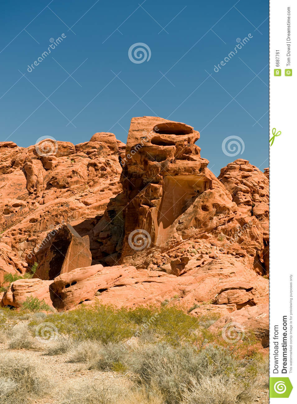 Valley Of Fire Rock Formations Stock Image Image 6687761