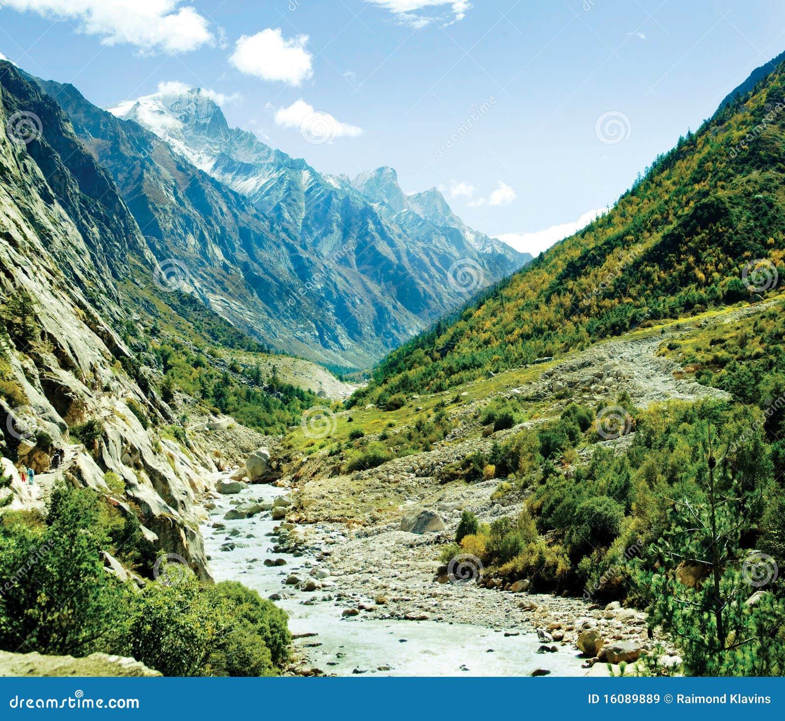 Valley Of Ganga River Himalya Stock Image - Image of ...