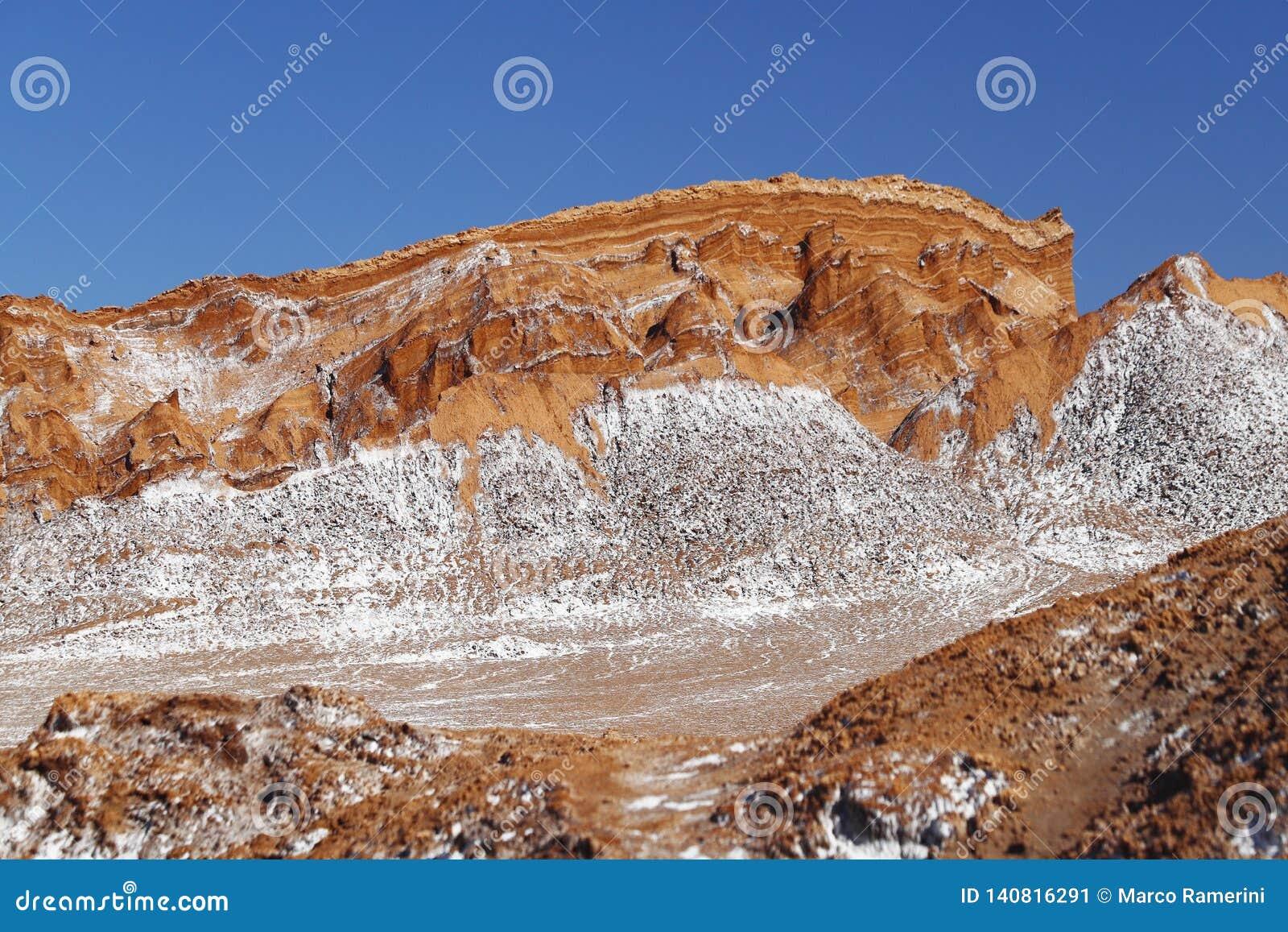 Valley Of The Moon Valle De La Luna Atacama Desert Chile Stock Image Image Of Detail Colors 140816291
