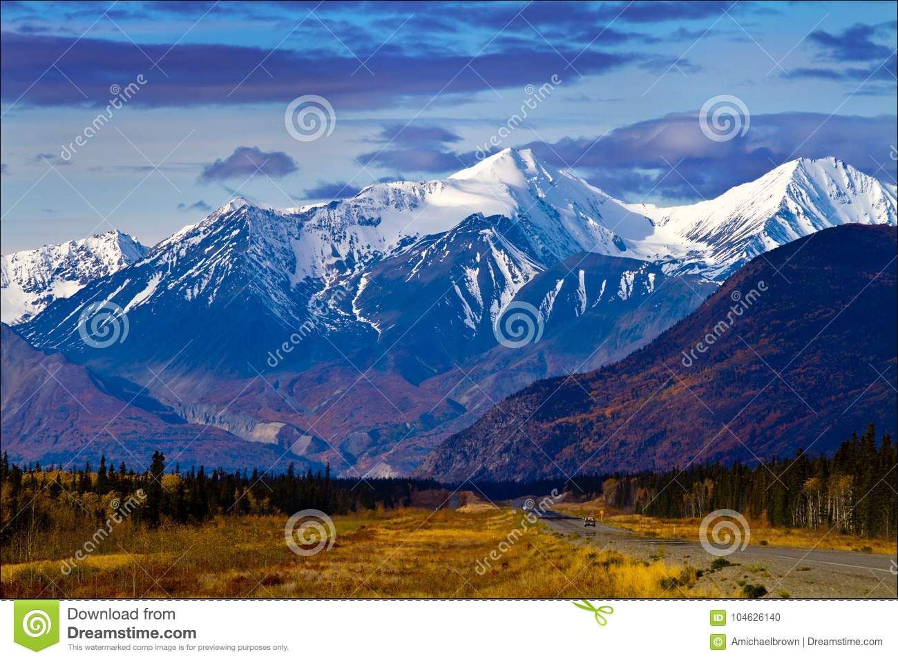 Valley and Mountainside Views, Yukon Territories, Canada