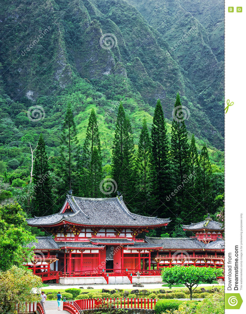 Valley Of The Temples Memorial Park, Maui, Hawaii Stock Photo