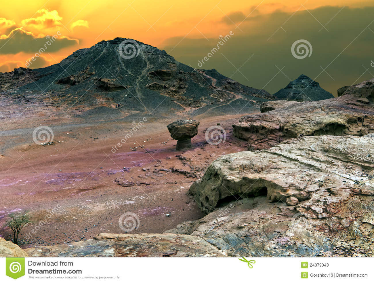 Valley of Timna park at sunrise, Israel