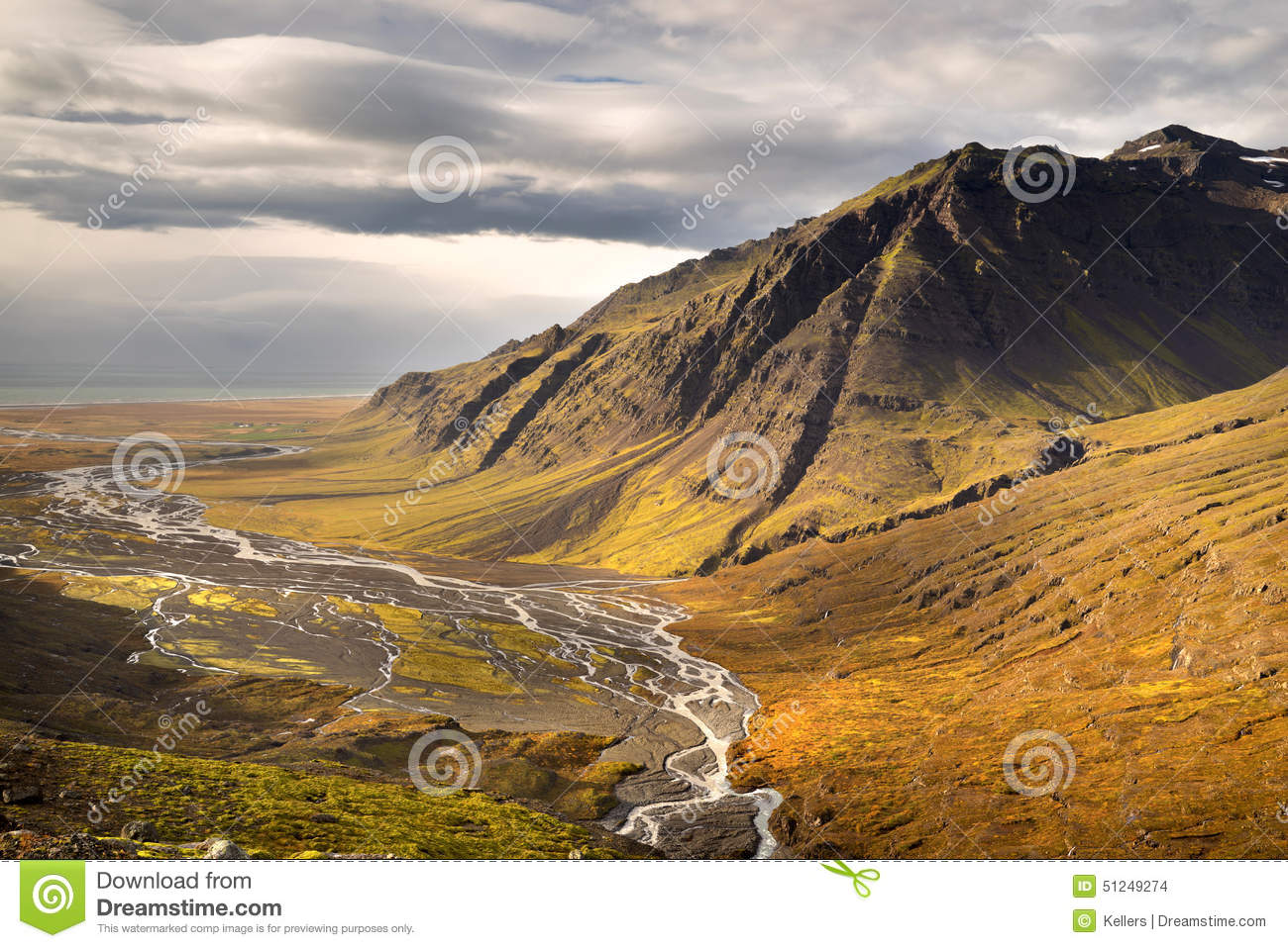 Download Valley view stock photo. Image of horizon, coastline - 51249274