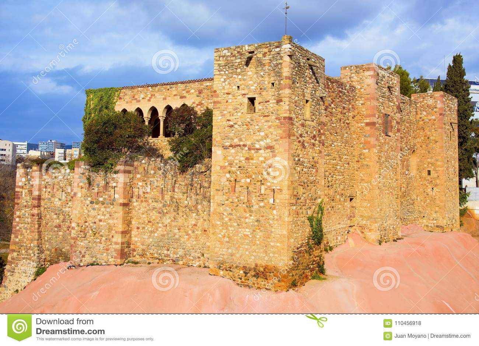 Vallparadis slott i Terrassa, Spanien