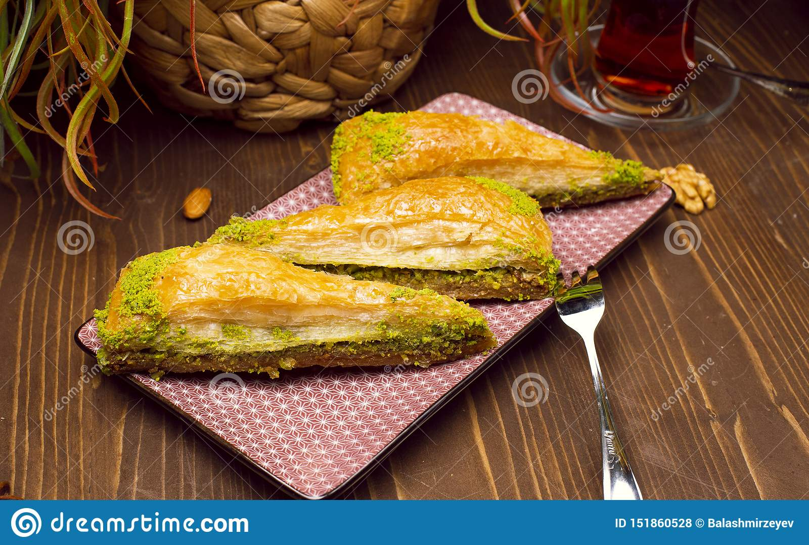 Valnöt för stilantep för pistasch turkisk baklava