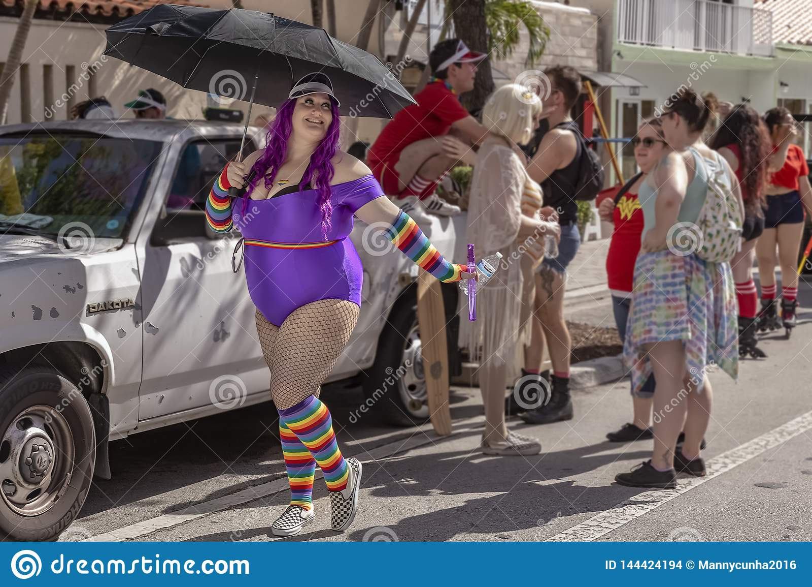 Valor del lago, la Florida, los E.E.U.U. 31 de marzo de 2019 antes, Palm Beach Pride Parade