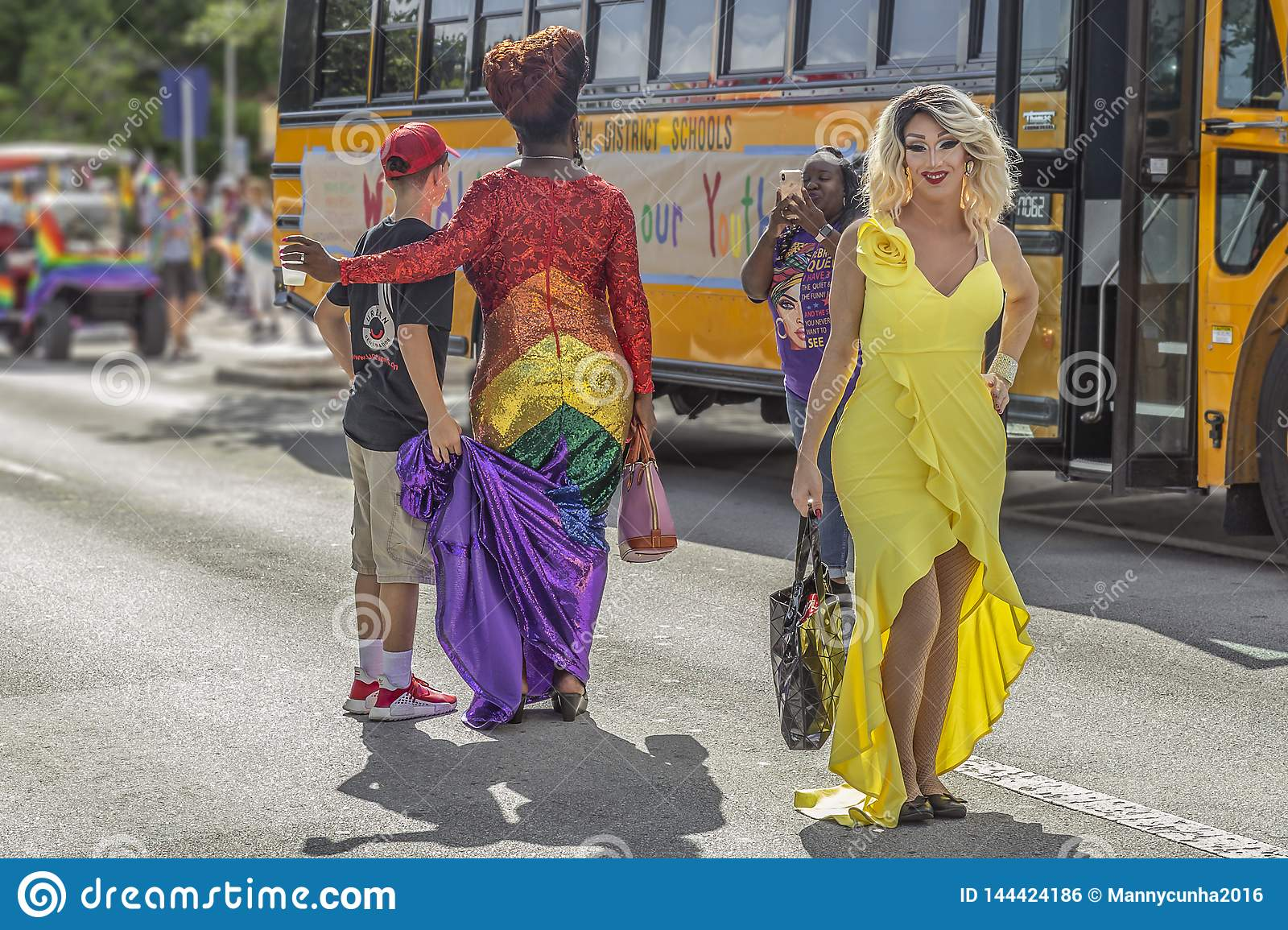 Valor do lago, Florida, EUA 31 de mar?o de 2019 antes, Palm Beach Pride Parade