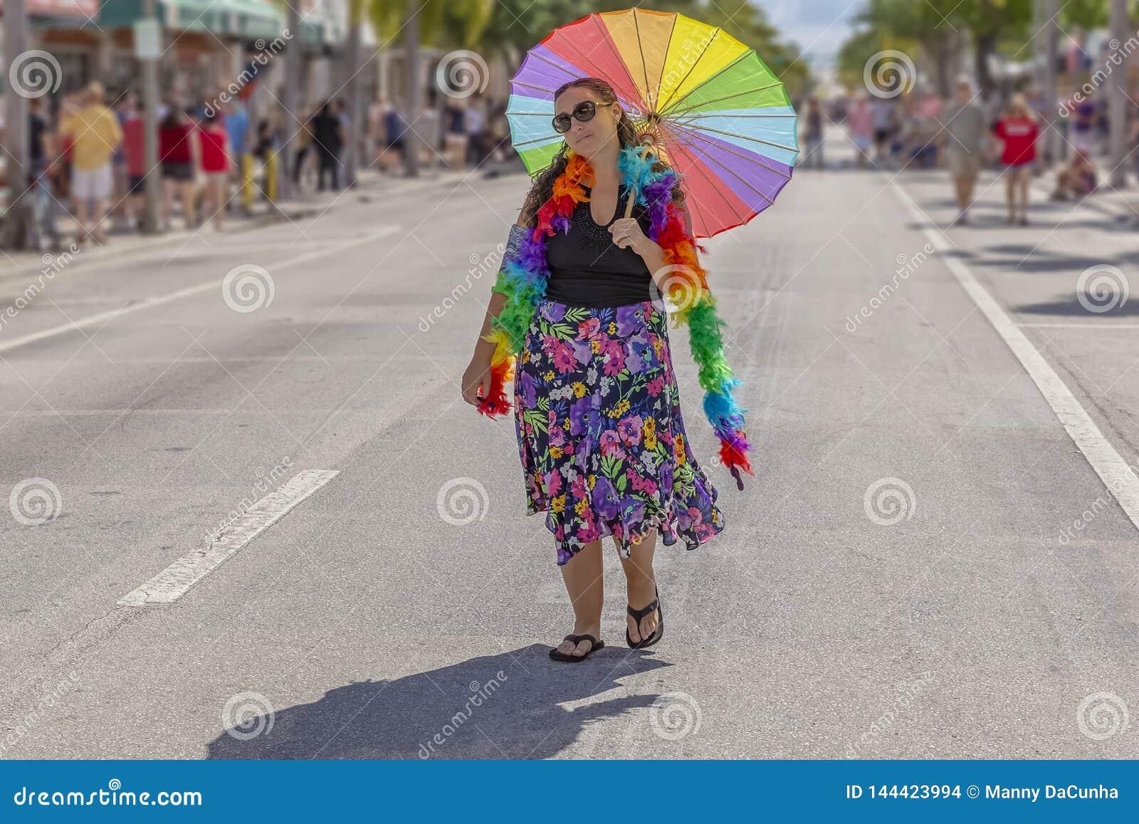 Valore del lago, Florida, U.S.A. 31 marzo 2019 prima, Palm Beach Pride Parade