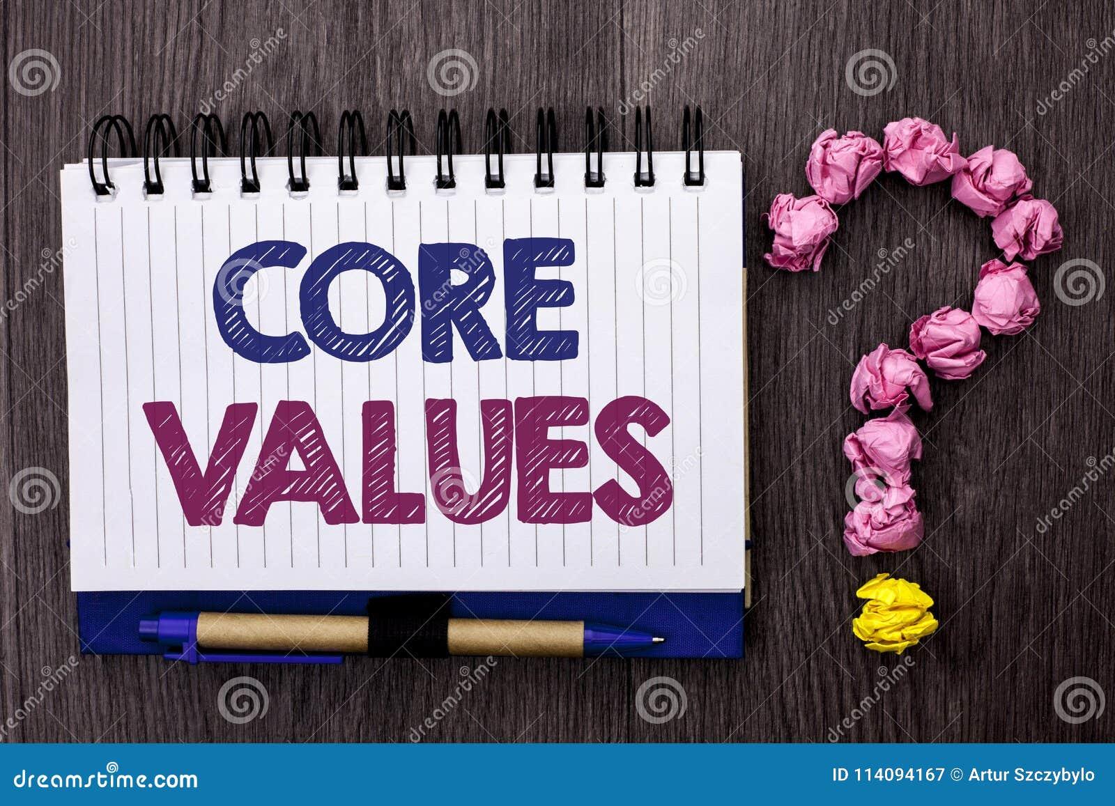 Valores do núcleo do texto da escrita Os componentes conceptuais do código da responsabilidade das éticas dos princípios do signi