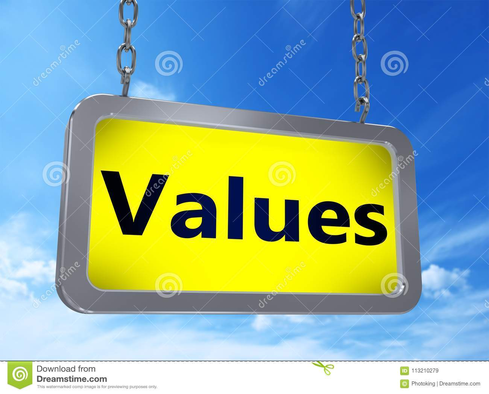 Valori sul tabellone per le affissioni