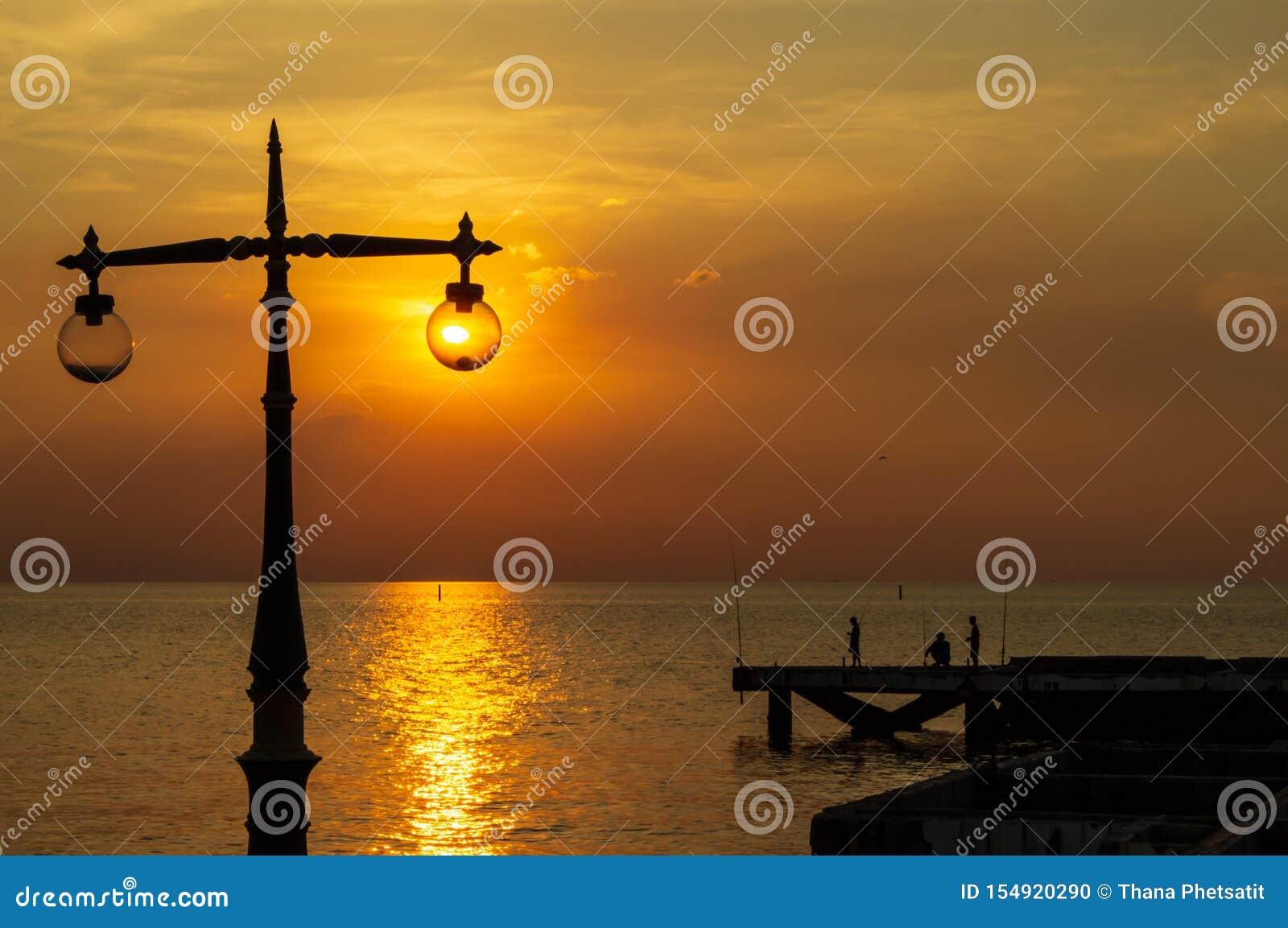 Vals licht van de strandlamp