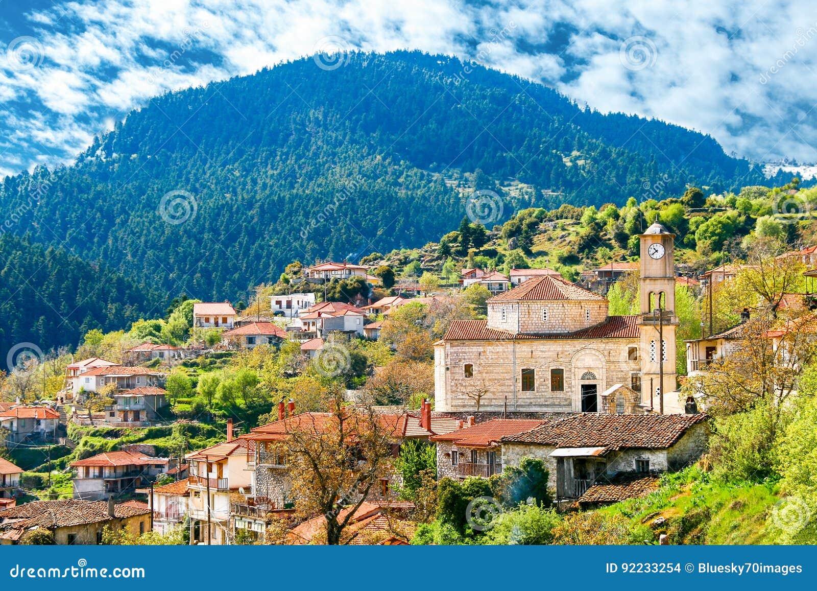 Valtessiniko village in Arcadia, Peloponnese, Greece