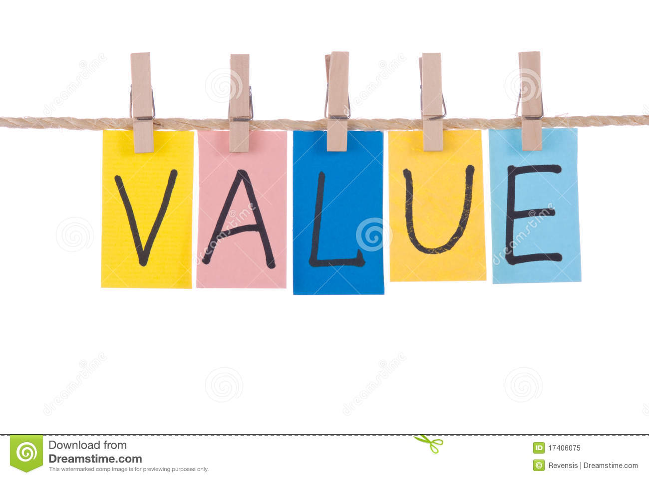 Value, Colorful words