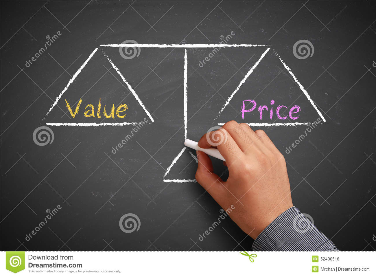 Value And Balance In Art : Value and price balance stock photo image