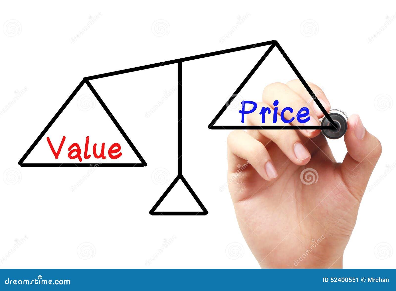 Value And Price Balance Stock Photo - Image: 52400551