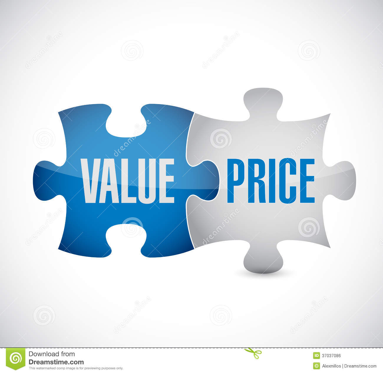 Value And Price Puzzle Pieces Illustration Design Royalty Free ...