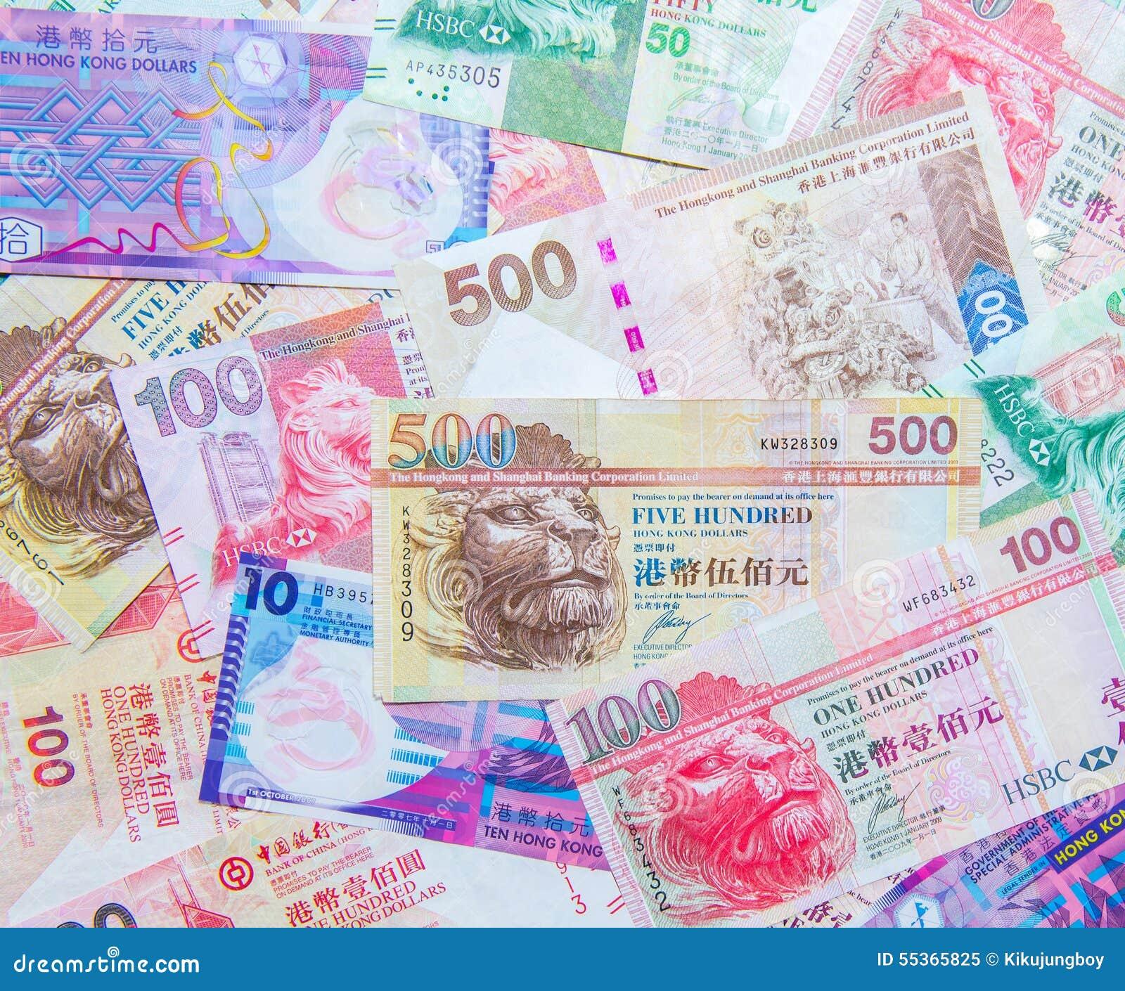 Valuta di Hong Kong Dollar