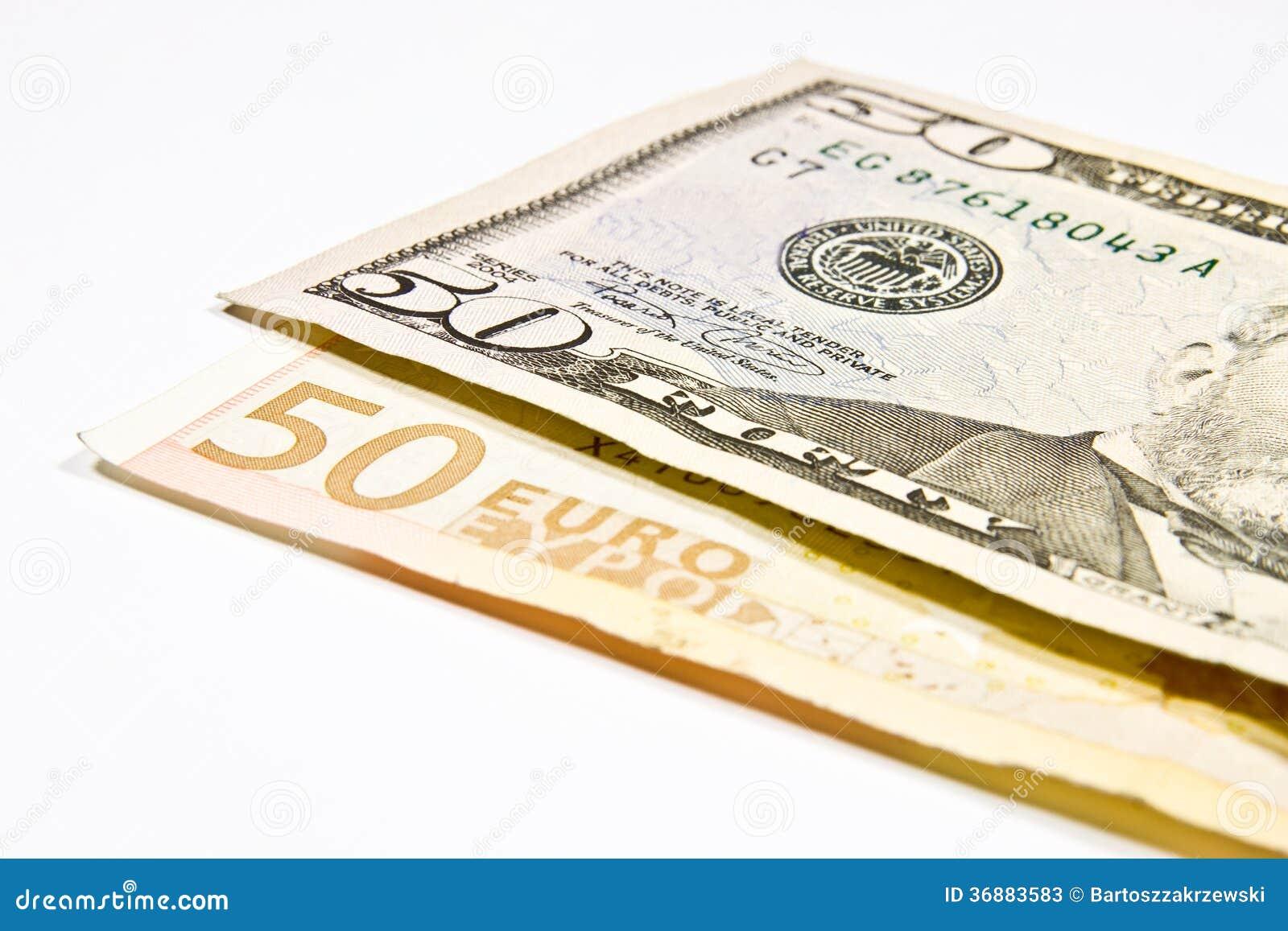 Download Valute euro e dollaro immagine stock. Immagine di colore - 36883583