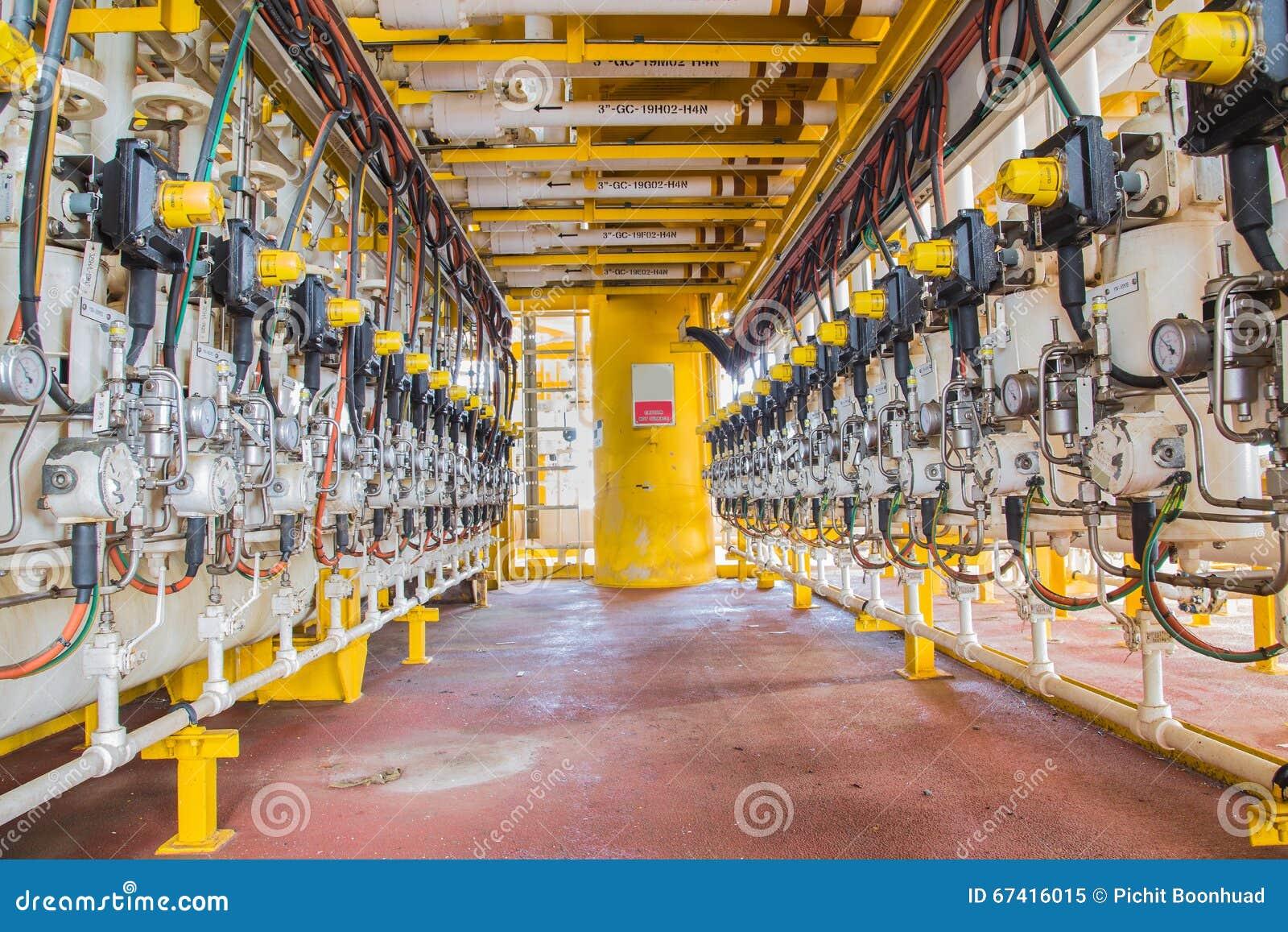Valve de branches de séparateur de production et d essai dans la plate-forme de pétrole et de gaz