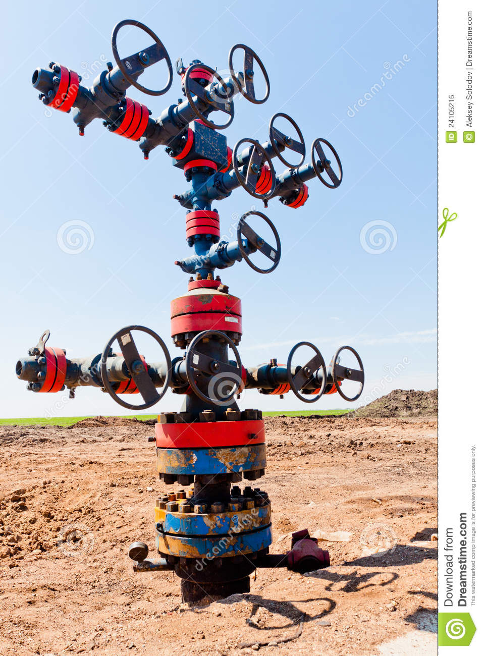 Valve On Production Wellhead Royalty Free Stock Image ...